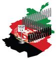 Afghanistan Migration vector image