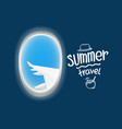 air travel window view summer travel vector image vector image