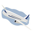 airplane flight travel icon aircraft in sky air vector image