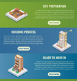 apartment construction flat isometric vector image vector image