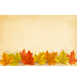 Autumn background with leaves and old paper vector image vector image