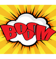 Boom Pop Art Comic Book Speech Bubble Background vector image vector image