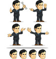 Businessman or Company Executive Customizable 10 vector image vector image