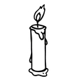 candle 2 vector image vector image