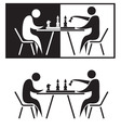 chess players vector image vector image