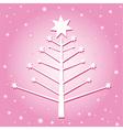 Christmas tree pink vector image vector image