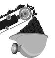 Coal Miners belt and helmet vector image vector image