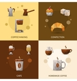 Coffee And Confectionery Icon Set vector image