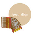 colored accordion in hand-drawn style vector image vector image