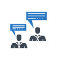 consulting glyph icon vector image