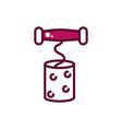 corkscrew on cork wine celebration drink beverage vector image