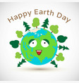 cute cartoon earth day postcard vector image