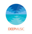 deep music logo poster vector image vector image