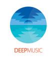 deep music logo poster vector image