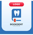 dental clinic book icon logo design element vector image vector image