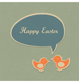easter retro card design vector image vector image