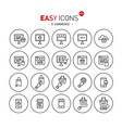 easy icons 40b e-commerce vector image vector image