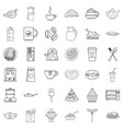 eatables icons set outline style vector image vector image
