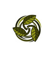 ecology association logo design template vector image
