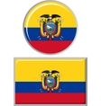 Ecuadorian round and square icon flag vector image