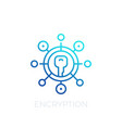 encryption line icon on white vector image vector image