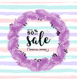 fashion discount poster summer sale banner vector image
