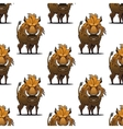 Fierce angry wild boar or warthog seamless pattern vector image vector image