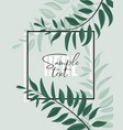 floral greenery card design vector image vector image