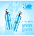 freah aroma spray ads vector image