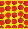 fresh tomato pattern background vector image