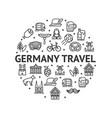 german culture round design template contour lines vector image vector image