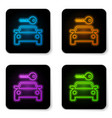 glowing neon car rental icon isolated on white vector image vector image