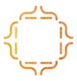 Golden Decorative frame vector image