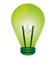 green regular lightbulb icon vector image vector image