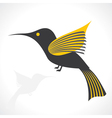 Grey and yellow bird icon vector image