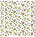hand drawn colorful flowers seamless pattern vector image vector image