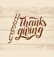 happy thanksgiving day typography design vector image vector image