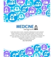Healthcare and medicine doctors background vector image vector image