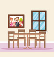 home dining room scene vector image