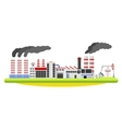 Industrial factory landscape Buildings with smoke vector image