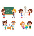 kids having science lessons vector image
