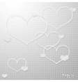 Modern thin hearts outlines with shadows vector image vector image