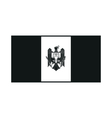 Moldova flag monochrome on white background vector image