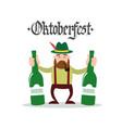 oktoberfest beer festival holiday decoration vector image vector image