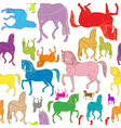 pattern of colored horses vector image