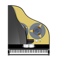 Piano with recorder vector image