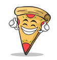 proud face pizza character cartoon vector image vector image