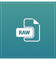 RAW image file extension icon vector image vector image