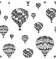 seamless pattern of doodle hot air balloon vector image vector image