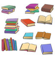 set of drawing books vector image vector image
